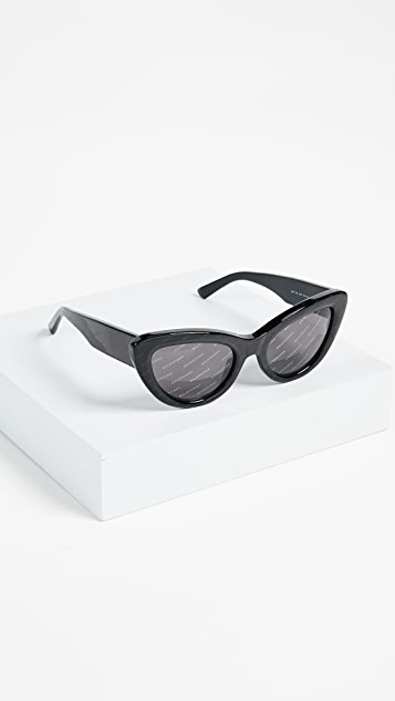 Balenciaga Bold Cat Eye Logo Sunglasses