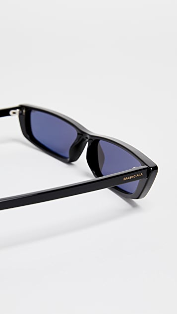 Balenciaga Narrow Square Sunglasses