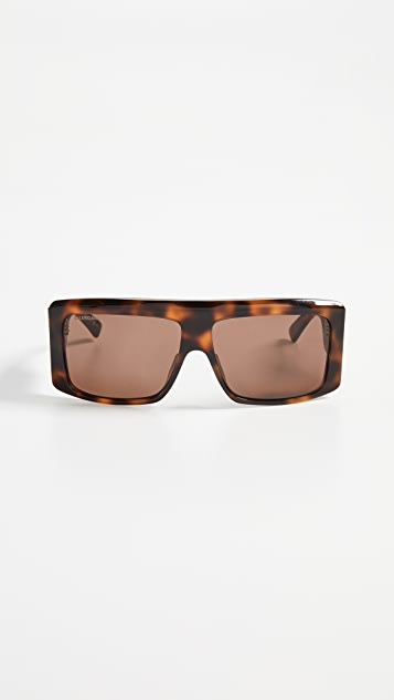 Balenciaga Cover Straight Sunglasses