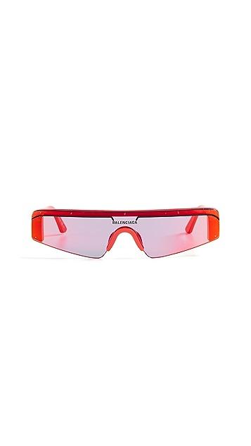 Balenciaga Прямые солнцезащитные очки Ski