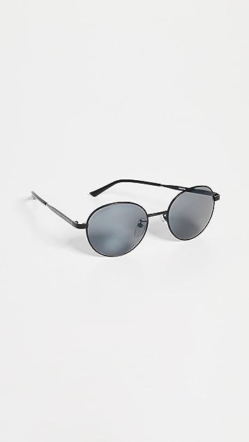 Balenciaga Округлые металлические солнцезащитные очки Verso