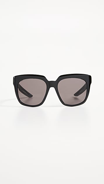 Balenciaga Hybrid Acetate Sporty Sunglasses