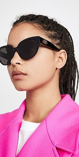 Balenciaga - Flat Glam Shape Sunglasses