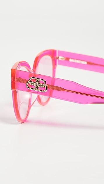 Balenciaga Flat Glam Shape Sunglasses