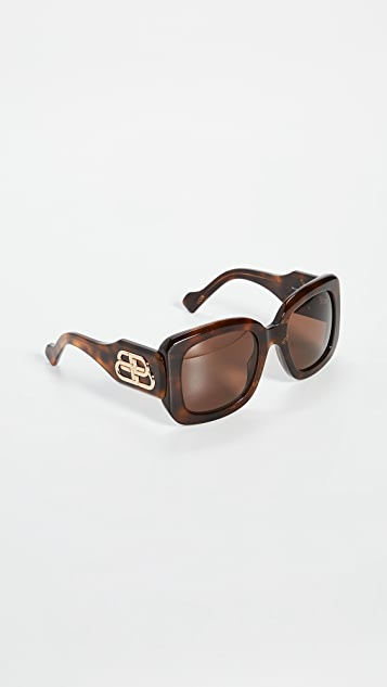 Balenciaga Sunglasses Paris Square Sunglasses