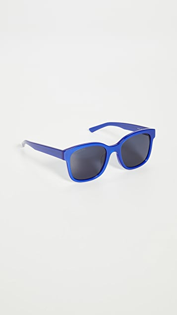 Balenciaga 厚实款超大方形醋酸纤维塑料太阳镜