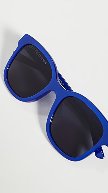Balenciaga Block Oversize Square Acetate Sunglasses