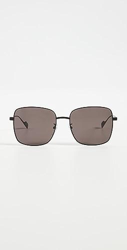 Balenciaga - Ghost Oversized Metal Square Sunglasses