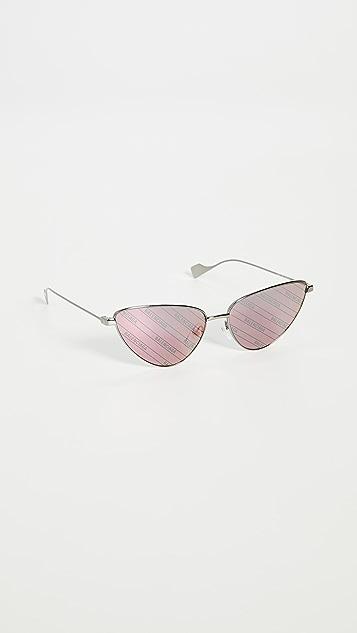 Balenciaga Ghost Extreme Metal Cat Eye Sunglasses