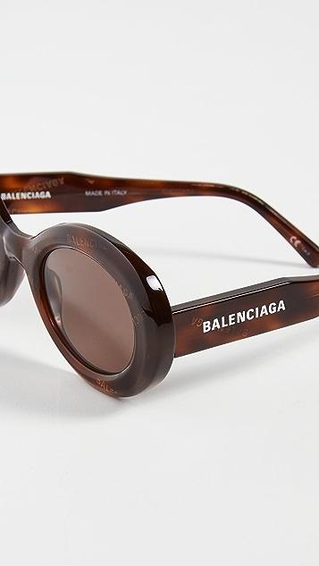 Balenciaga Agent 醒目椭圆形太阳镜