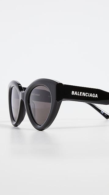 Balenciaga Agent 醒目猫眼框太阳镜