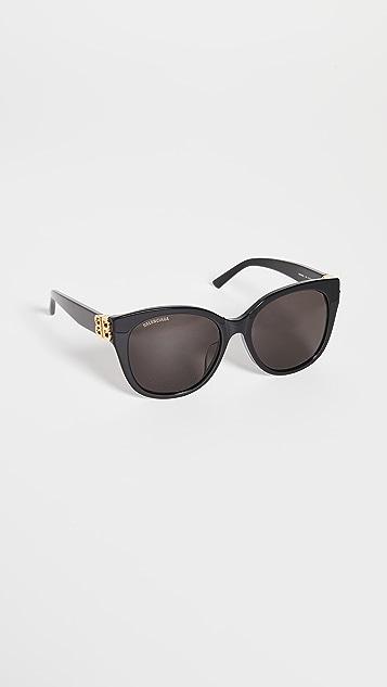 Balenciaga Dynasty 复古猫眼太阳镜