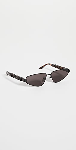 Balenciaga - Typo Narrow Logo Temple Sunglasses