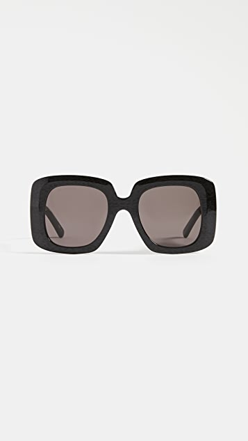Balenciaga Blow Acetate Oversize Square Sunglasses