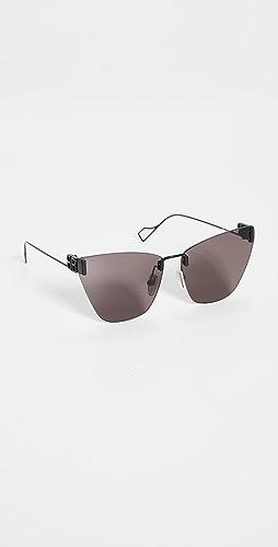 Balenciaga - Light Metal Cat Eye Sunglasses