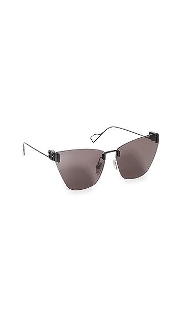 Balenciaga 轻质金属猫眼太阳镜