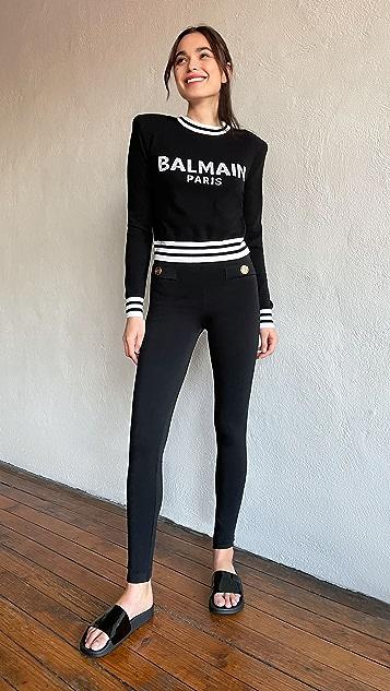 Balmain 拉链贴腿裤