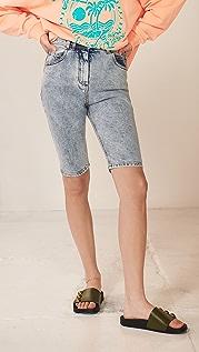 Balmain Hw 牛仔布单车短裤