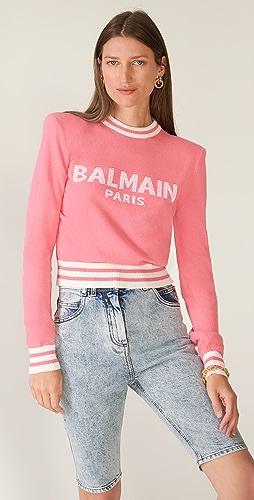 Balmain - Cropped Logo Sweater