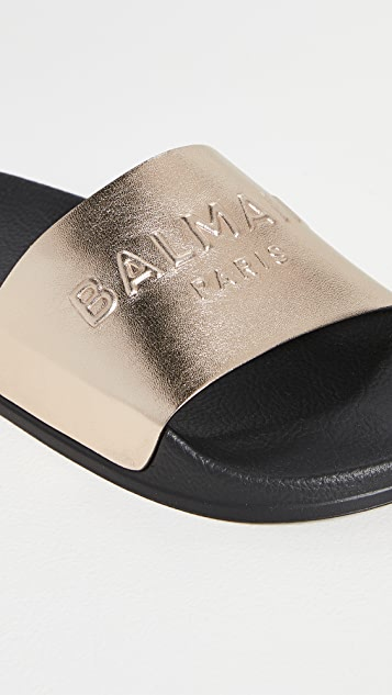 Balmain Calypso 平底凉鞋
