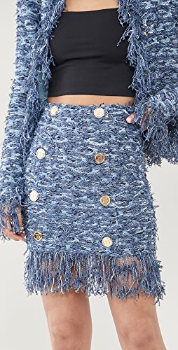 Balmain - 花呢半身短裙