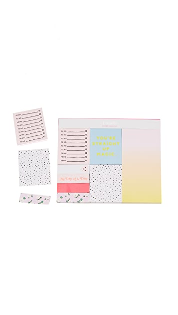 ban.do Straight Up Magic Sticky Note Set