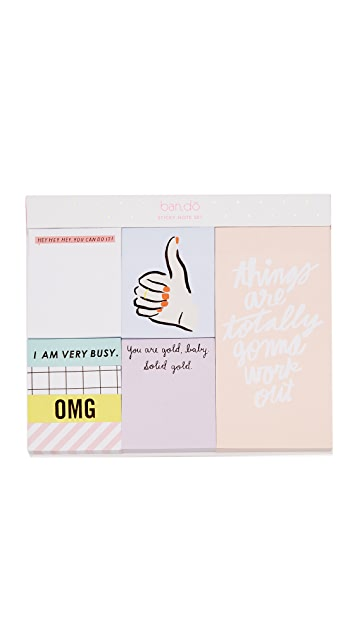 ban.do Thumbs Up Sticky Note Set