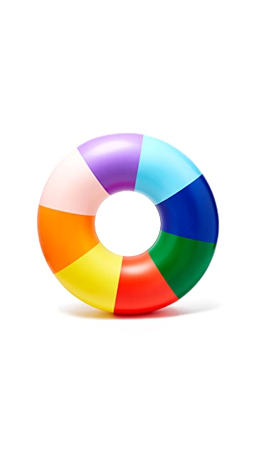 ban.do Float On Rainbow Inner Tube Float