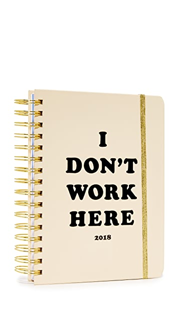 ban.do I Don't Work Here 17 Month 2018 中号记事册