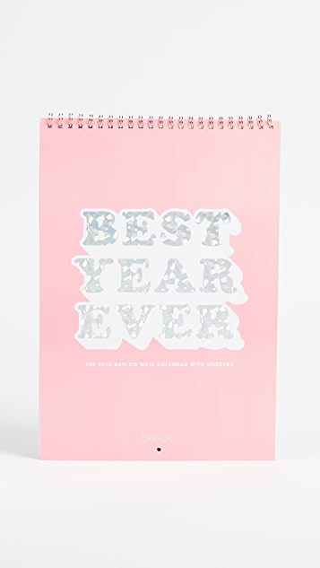 ban.do Best Year Ever Calendar - Pink
