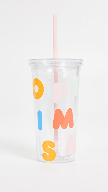 ban.do Optimism Tumbler with Straw
