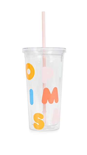 Optimism Tumbler With Straw by Ban.Do