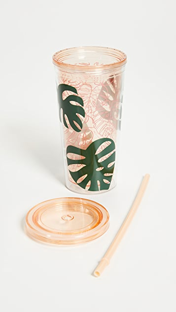ban.do Monstera Leaf Sip Sip Tumbler