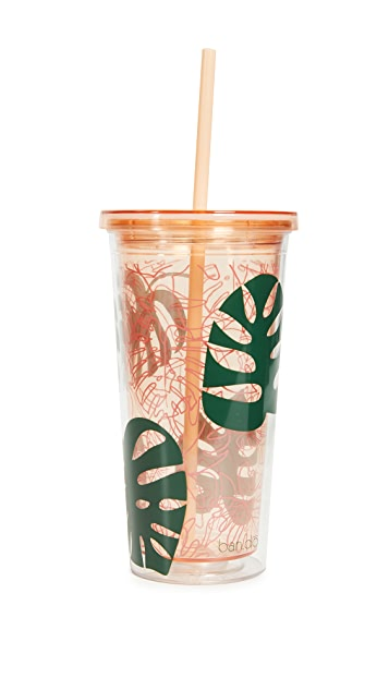 Monstera Leaf Sip Sip Tumbler by Ban.Do