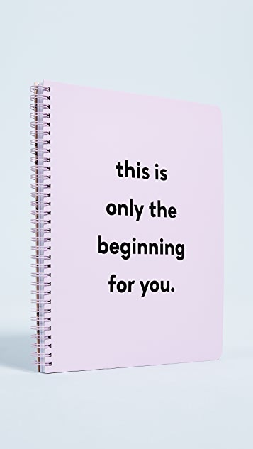 ban.do Only the Beginning Notebook