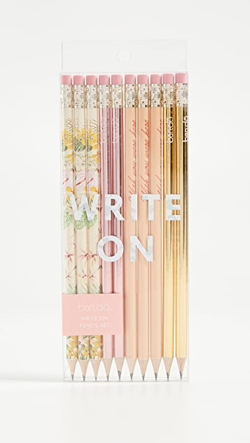 ban.do Paradise Greetings Pencil Set - Multi