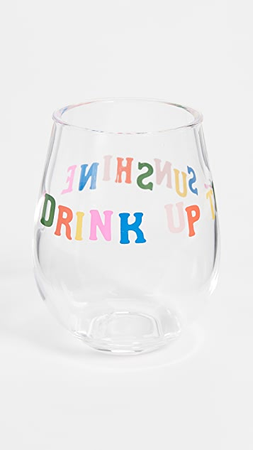 ban.do Drink Up The Sunshine Wine Glasses