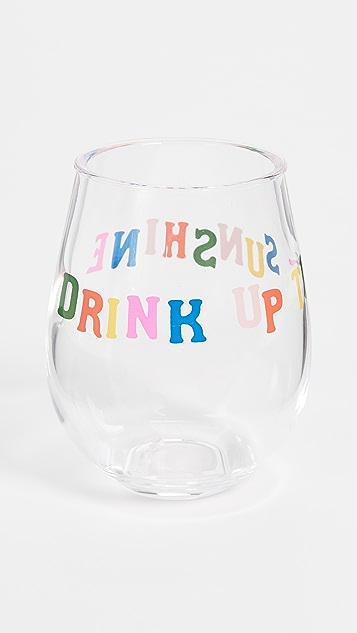 ban.do Бокалы для вина Drink Up The Sunshine