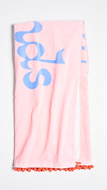 ban.do Weekends Are Forever Deluxe Beach Towel