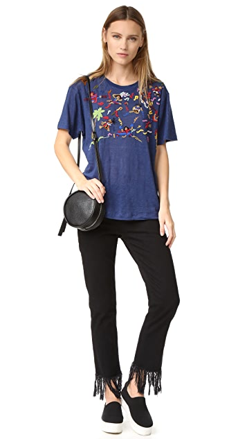 Banner Day Band Scene Embroidered Tee