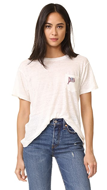Banner Day American Flag Pocket Tee