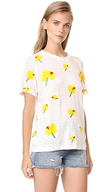 Banner Day Hawaiian Hibiscus Print Tee