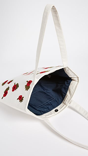 Banner Day British Poppies Tote