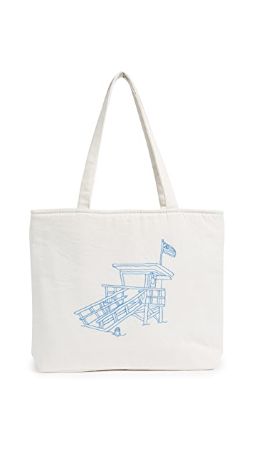 Banner Day Lifeguard Tower Tote