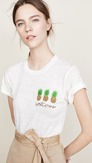 Banner Day Welcome Pineapples Tee