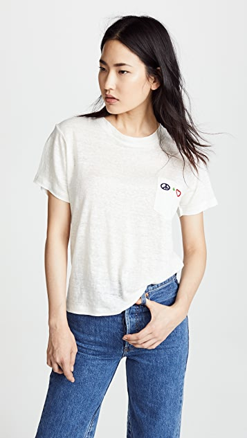 Banner Day Peace + Love Pocket Tee