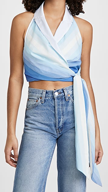 By any Other Name Gathered Wrap Halter Top