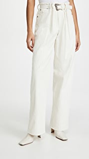 By any Other Name Pleated Utility Pants with Self Belt
