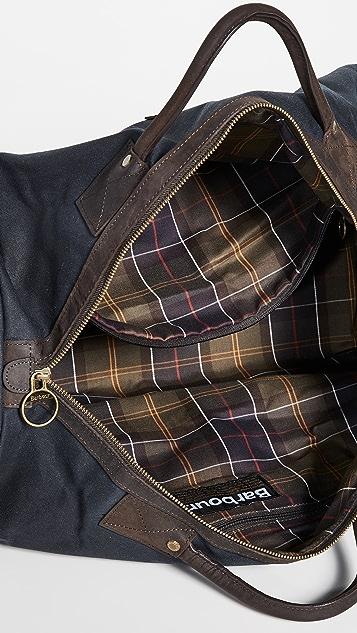 Barbour Wax Holdall Duffel Bag