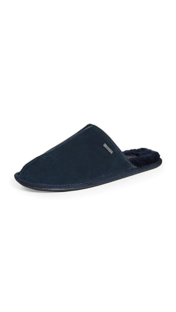 Barbour Malone Suede Slippers
